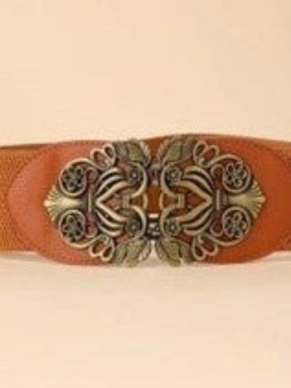Floral Vined Buckle Stretch Belt *Final Sale*