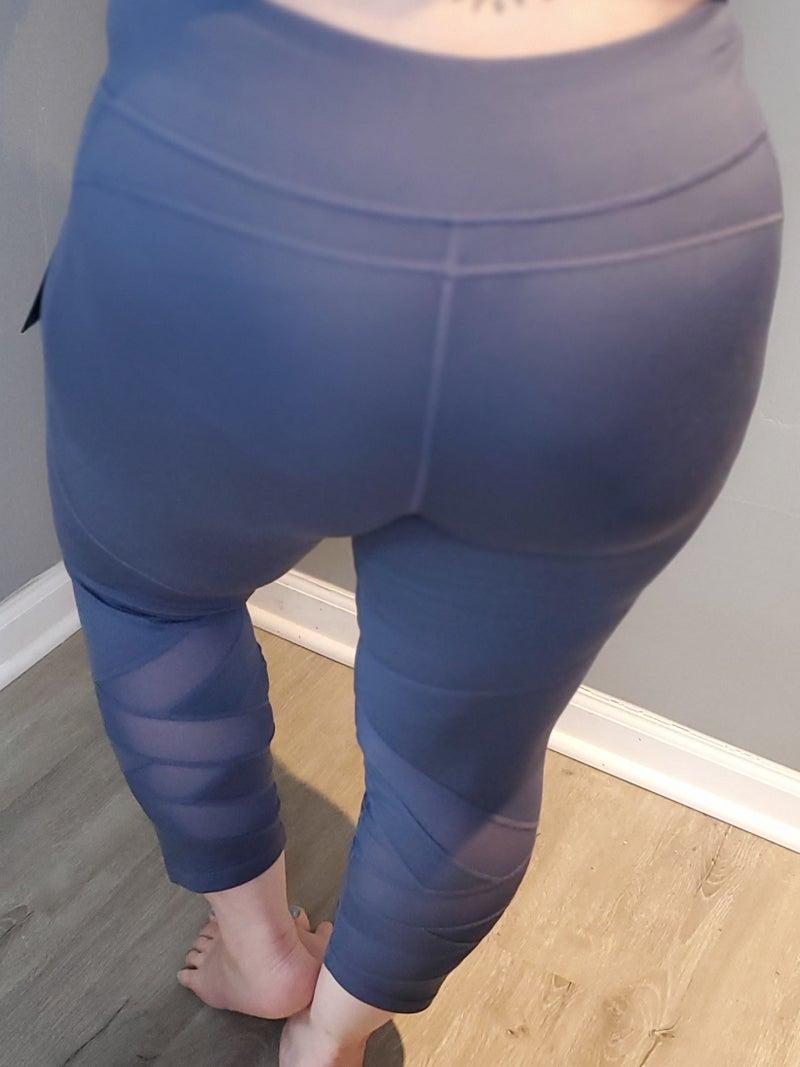 Curvy Overlap ZigZag Mesh Leggings
