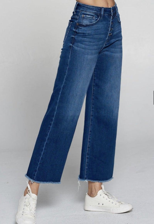 Brunch Date Wide Leg Crop Jean