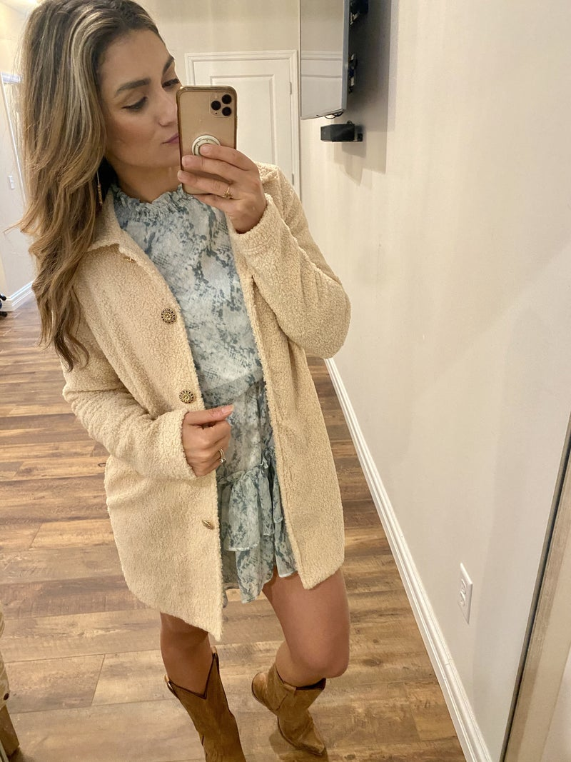 Ciao Bella Gold Button Jacket