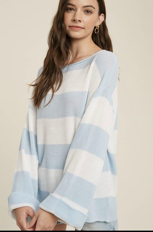 Rita Ribbed Stripe Pullover
