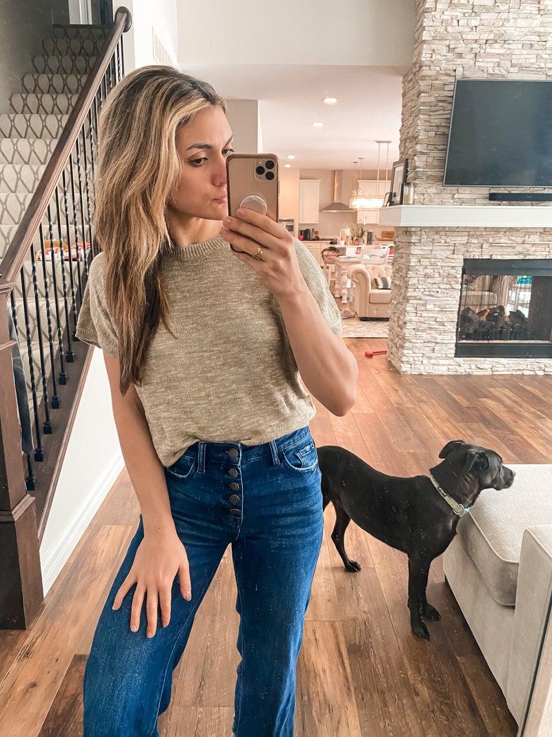 Sierra Sage Short Sleeve Sweater