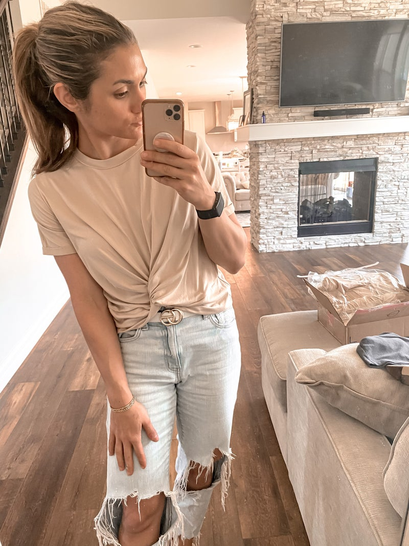 Our Fave Super Soft Knot Crop Tee