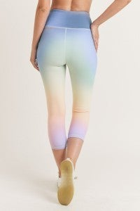 Spring Disco Active Crop Leggings