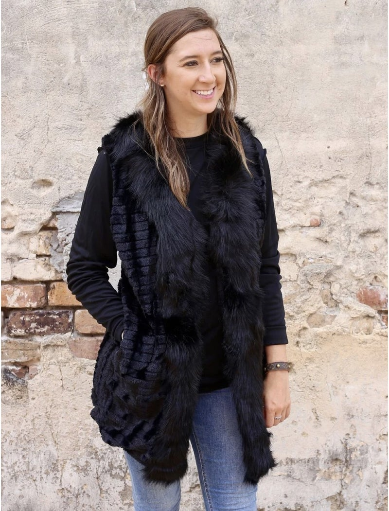 Luxe Black Vest