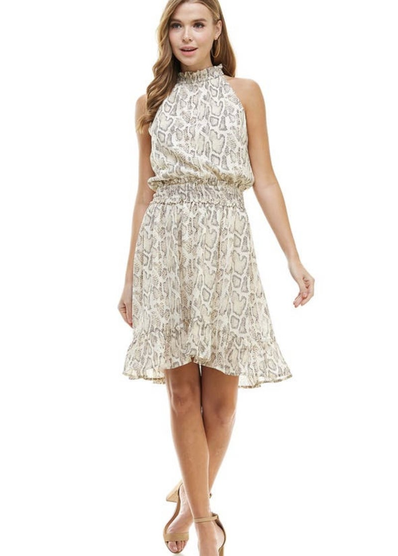 Sarah Snake Print Dress