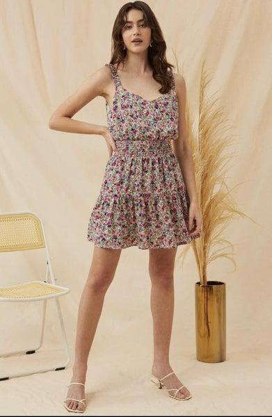 Dancin' In the Wind Floral Dress