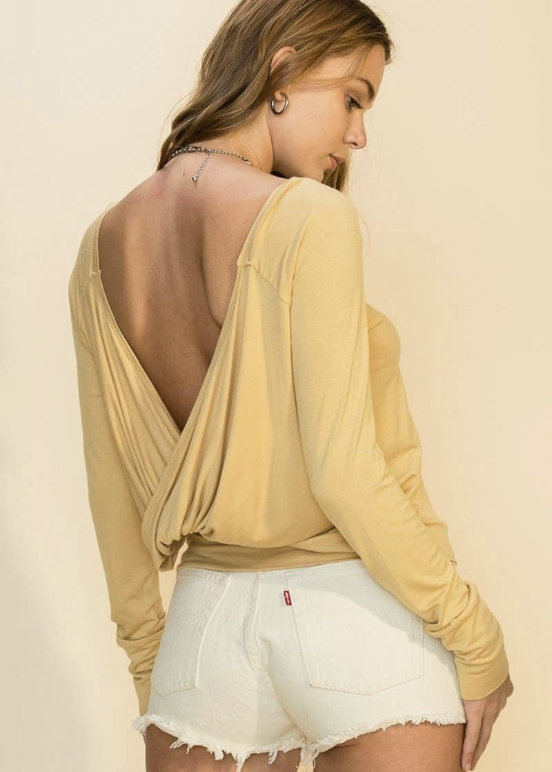 Remember Me Open Back Top