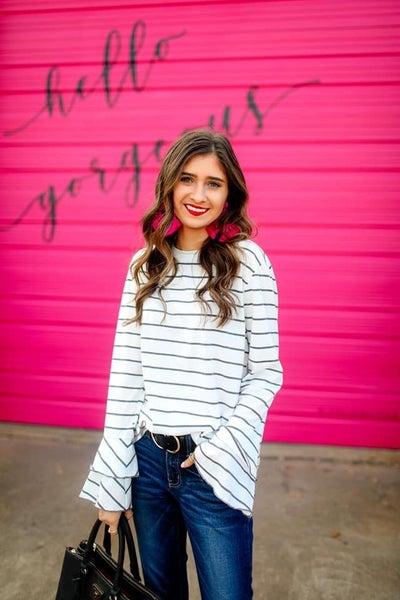 Sleeves & Stripes Top - Preorder