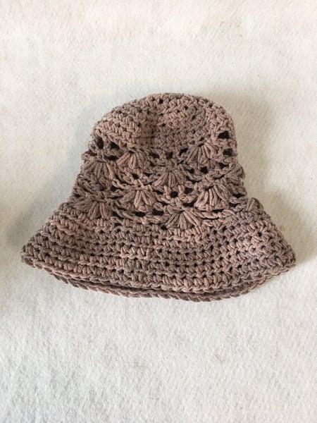 Crocheted infant size sun hat
