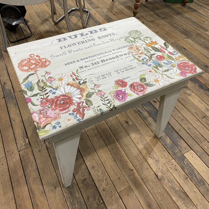 Vintage table with transfers