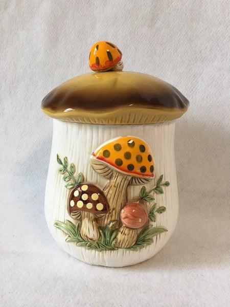 Sears & Roebuck large mushroom canister