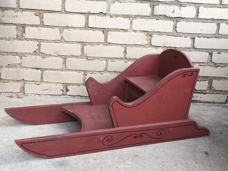 Vintage wooden child's sled