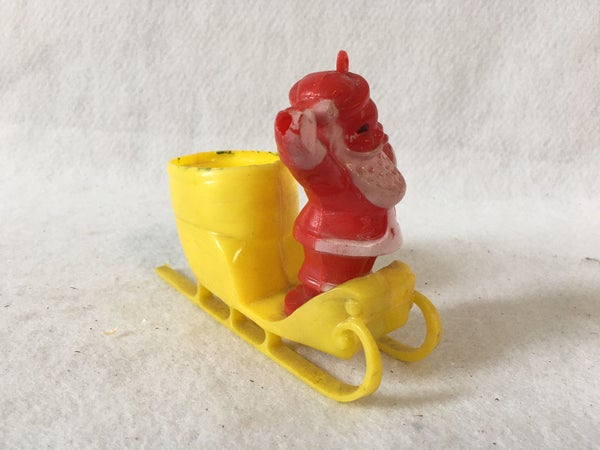 Red plastic candy holder ornament