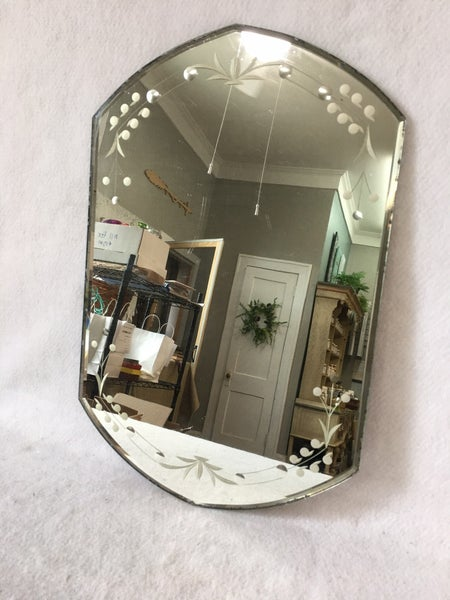 Vintage beveled edge mirror