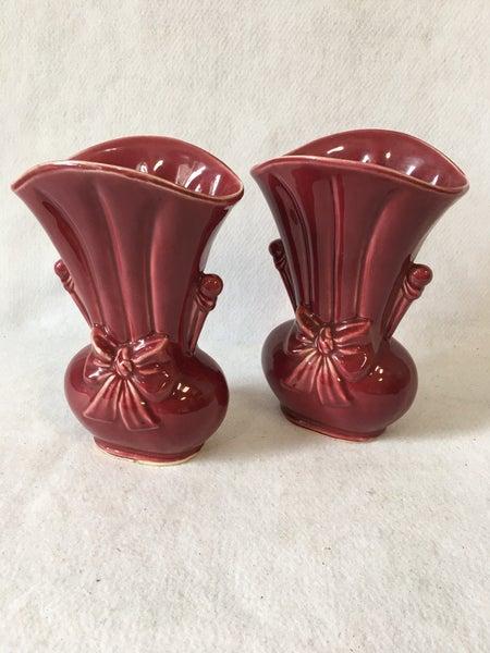 Pair of Shawnee bow vases