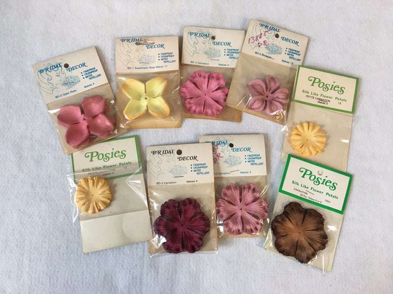 Vintage Silk floral petals