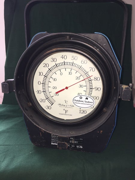 Custom made indoor/outdoor thermometer