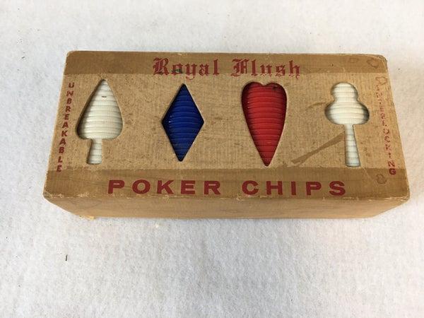 Vintage poker chips by Royal Flush