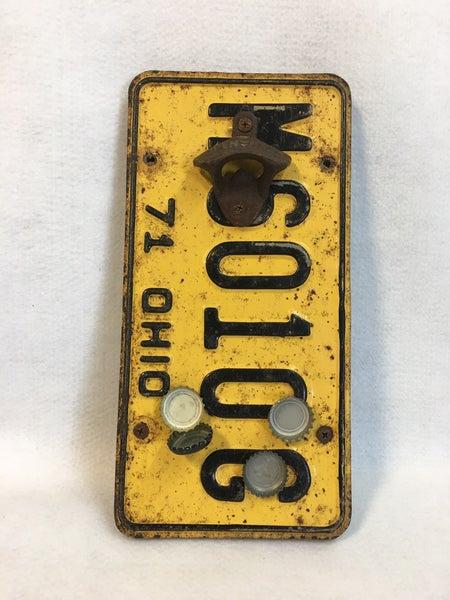 OH 1971 license plate bottle opener