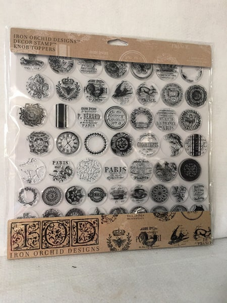 Iron Orchid Design Knob Topper stamp