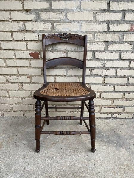 Vintage wood & cane chair
