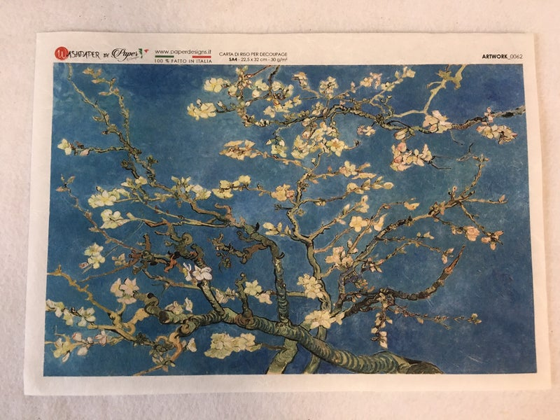 """Rice paper """"Almond Blossom"""" by VanGogh"""