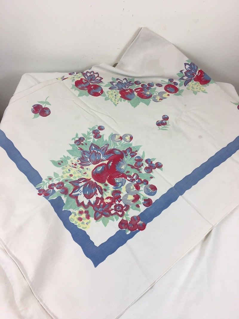 Floral tablecloth