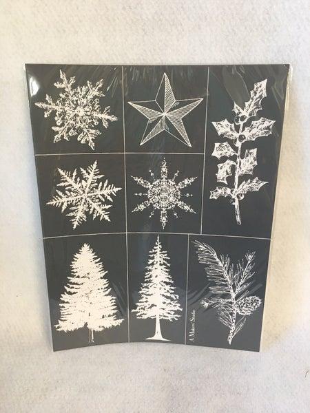 "Makers Studio mesh stencils ""Snowflakes"""