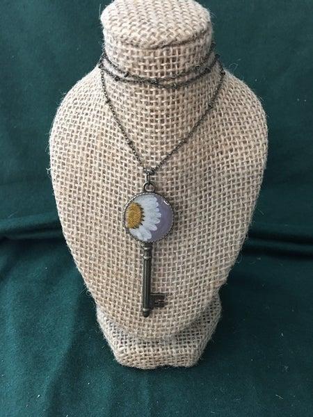 Key floral neckace by My Beverly jewelry