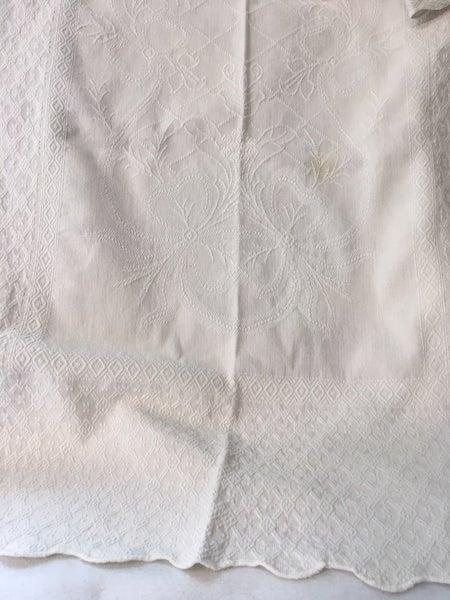 Vintage cotton layover sham