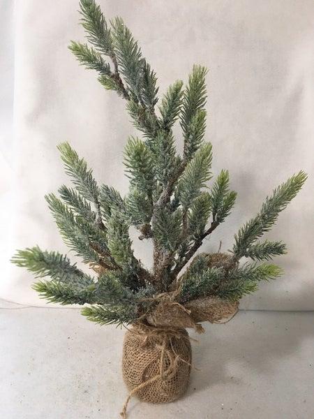 16 inch glitter tree w/burlap