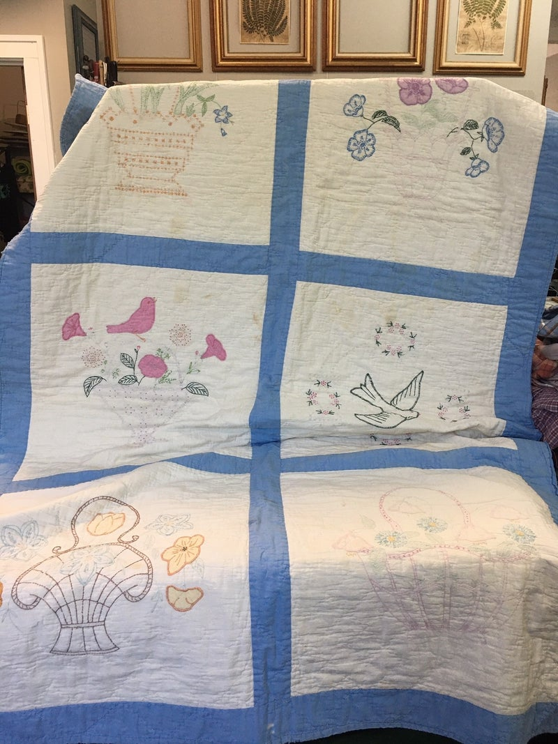 """Vintage child's  quilt, 36"""" x 60"""""""