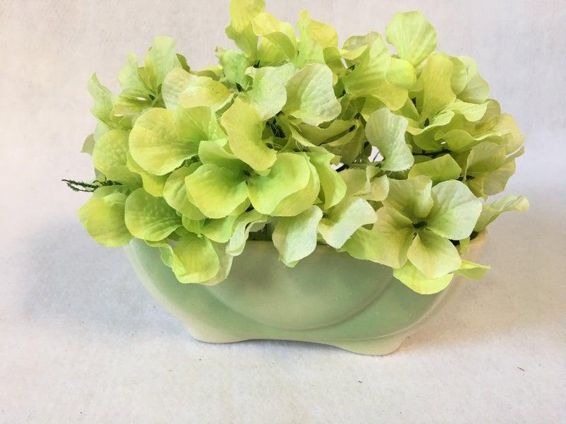 Vintage pale green planter