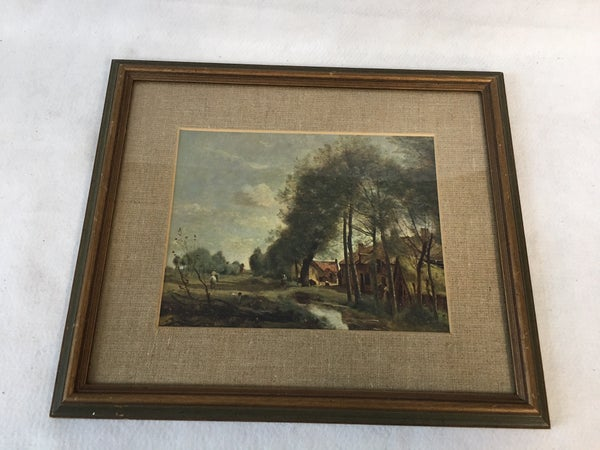 Cottage and pasture framed art