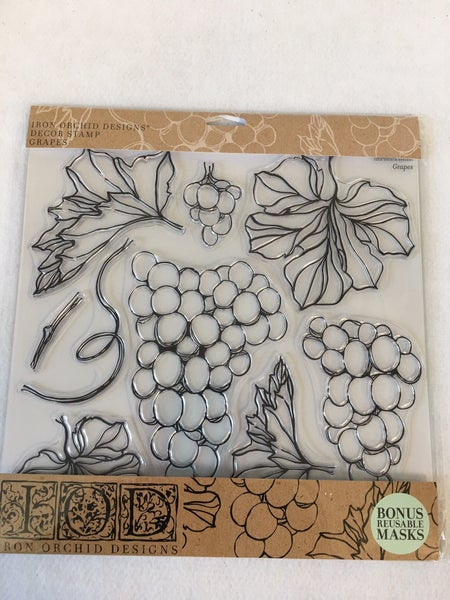 """Iron Orchid Design """"Grapes"""" stamp"""