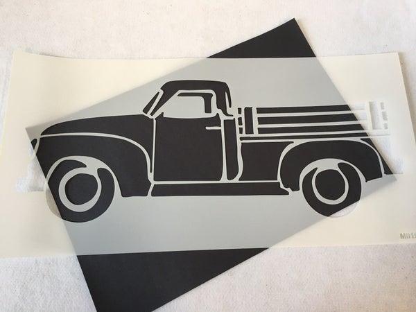 Mudderitaville Studio vintage truck stencil