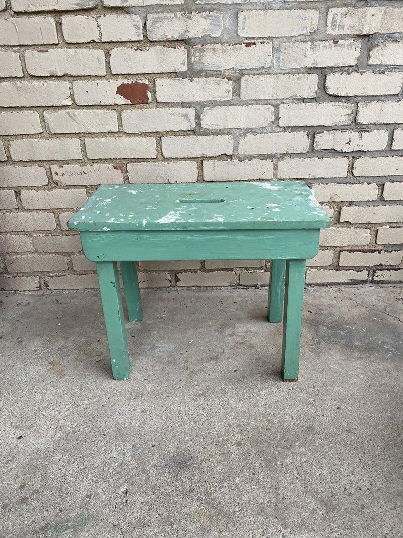 Vintage green stool