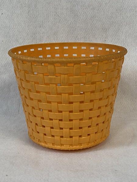 Vintage orange plastic planter