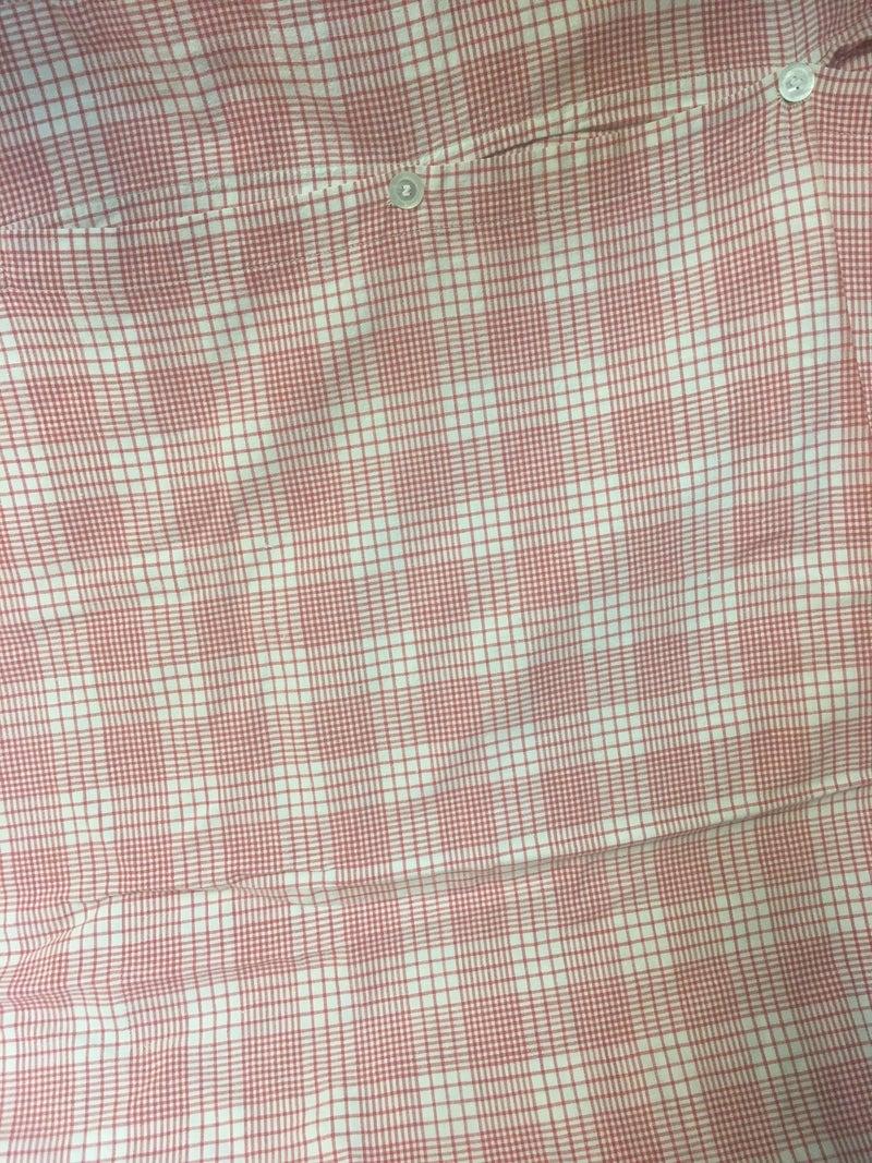Antique German cotton red plaid duvet cover