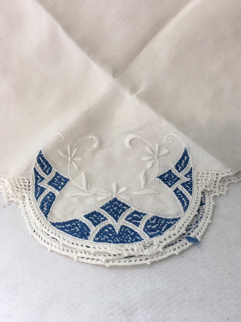 Madiera Linen card table cloth