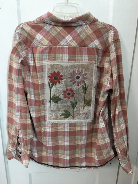 Pink flannel shirt w/Monahan print