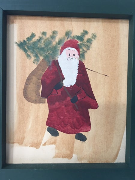 """""""Pere' Noel"""" watercolor"""