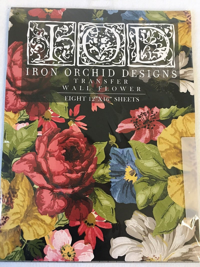 Iron Orchard Design Wall Flower transfer
