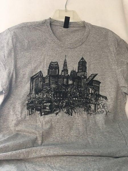 Cleveland skyline t-shirt by Chris Deighan