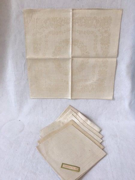 6 vintage Czech linen napkins