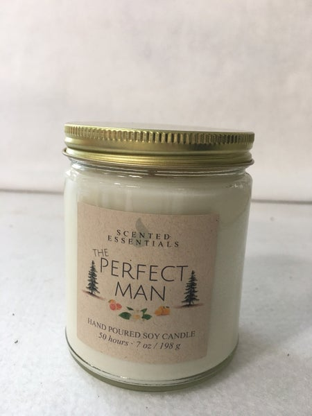 """""""The Perfect Man"""" candle"""