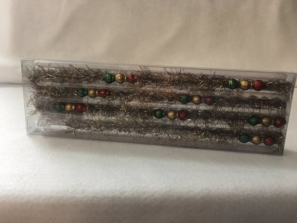 Metallic vintage style beaded garland