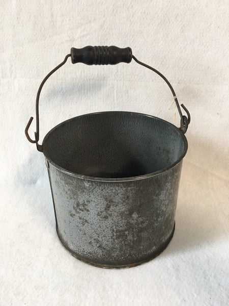 Antique gray graniteware berry basket