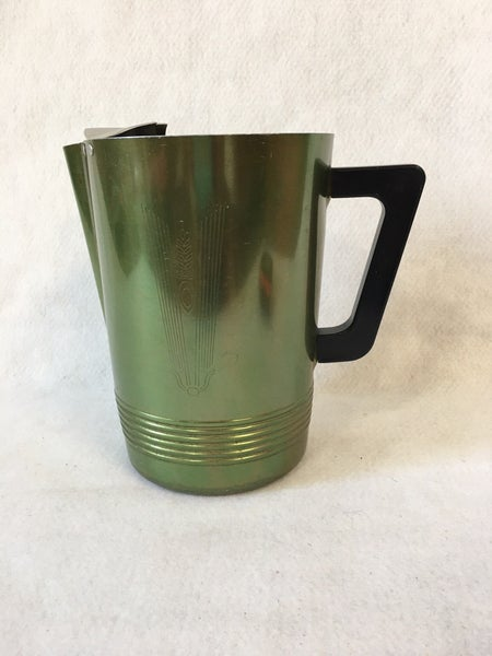 Green aluminum pitcher by Regalware